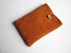 Orange iPad mini sleeve with button iPad mini case by CasesLab, $17.00