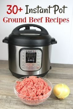 This is the best list of 30+ Instant Pot Ground Beef Recipes! There's so many family favorites on it, to make my life easier! I've got to try them! via @SidetrackSarah
