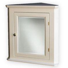 White Corner Medicine Cabinet