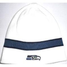 Seattle Seahawks Single Stripe NFL Knit Beanie Hat Cap