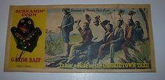 Black-Americana-Vintage-Humorous-Souvenir-Fishing-Lure-Dark-Town-Taxi-Alligator