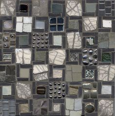 Very Cool! | Compartmentalized V Mosaic by Ilona Fried | @mosaicartists.org