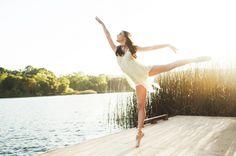 High school senior dancer ballet lake