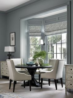 Home decorating ideas - informal sitting, traditional style with blue and cream by Susan Bozeman