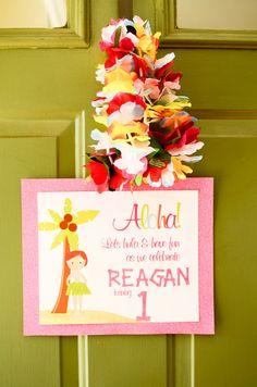 "Photo 3 of 24: 1st Birthday Luau / Birthday ""Reagan's 1st Birthday Luau"" | Catch My Party"