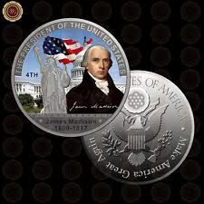 WR George Washington US Silver Coin Collectible American The First President Challenge Metal Coins Art Crafts for Collection American Independence, American Presidents, American History, John Adams Presidency, John Witherspoon, List Of Presidents, United States Constitution, Coin Art, James Madison
