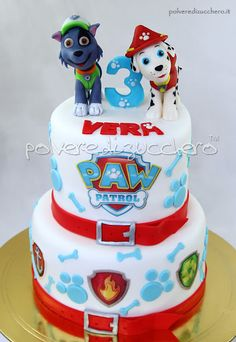 cake paw patrol with Marshall and Rocky