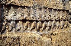 Yazılıkaya - Chamber B relief with the twelve gods of the underworld.