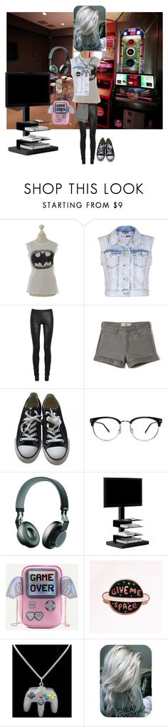 """""""Gamer Girl!"""" by batgirl-at-the-disco3 ❤ liked on Polyvore featuring LAUREN MOSHI, Topshop, Rick Owens, Hollister Co., Converse, Jabra, Opinion Ciatti and Nintendo"""