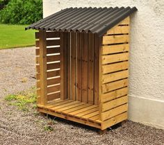 Wood storage ideas outdoor log store 42 new Ideas Outdoor Firewood Rack, Firewood Shed, Firewood Storage, Outdoor Storage, Log Shed, Bike Shed, Wood Storage Sheds, Log Store, Garden Structures