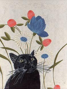 My cat by nejjiferdavis #art #illustration