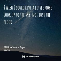 #Adele #million years ago