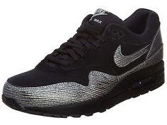 online store 8f58f 9c86b Nike Air Max 1 Premium Womens 454746-005 Black Hematite Running Shoes Size  8 Women s