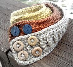 Hand crocheted cuff bracelets -inspiration