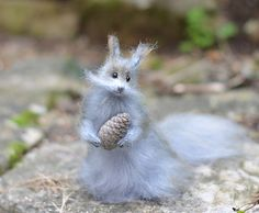 Knitted Squirrel Soft Sculpture Squirrel by OlgaMareeva on Etsy