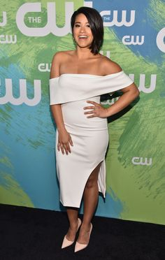 cd30b3b5e1c The Jane the Virgin actress stuns at the CW Network s 2016 New York Upfront  Presentation in New York City.