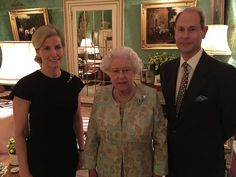 Photo taken by the Duke of York of Queen Elizabeth and the Earl and Countess of Wessex before a reception held on behalf of the Wessex's patronages, Buckingham Palace, February 2015 Duchess Of York, Duke Of York, Duke And Duchess, Duchess Of Cambridge, Adele, Sophie Rhys Jones, Prinz Andrew, Prince William And Kate, Prince Edward