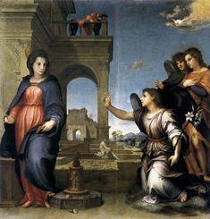 Andrea del Sarto - Annunciazione di San Gallo - 1513-1514 circa - Musei di Palazzo Pitti, Galleria Palatina