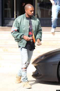 77ea0070748 Kanye Leaves Barneys In Confederate Flag Jacket Combining Contradiction And  Controversy. Alpha Industries ...
