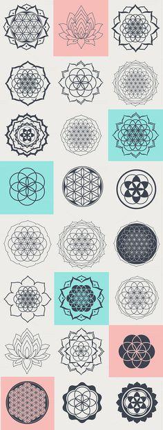 Tattoo mandala geometric symbols sacred geometry Ideas for 2019 Geometric Tattoos Men, Geometric Symbols, Geometric Tattoo Design, Geometric Shapes, Mandala Symbols, Geometric Mandala Tattoo, Sacred Symbols, Sacred Geometry Patterns, Sacred Geometry Tattoo