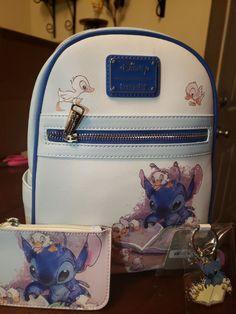 disney loungefly backpack Stitch Lot on Mercari Disney Handbags, Disney Purse, Cute Purses, Purses And Bags, Lilo And Stitch Quotes, Lilo Stitch, Faux Leather Backpack, Leather Backpacks, Leather Bags