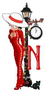 Alfabeto de Betty Boop con farola.   Oh my Alfabetos!