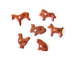 Six Vintage Annodized Aluminum Cookie Cutters Miniature • Animal Crackers by MargsMostlyVintage on Etsy
