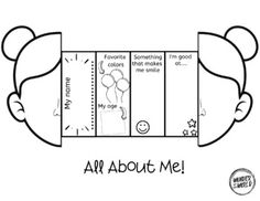 All about me self portrait style foldable by Wonder at the World | Teachers Pay Teachers All About Me Preschool Theme, All About Me Crafts, All About Me Activities, English Activities, Back To School Activities, School Games, Preschool Activities, World Teachers, Material Didático
