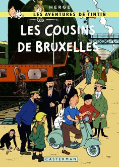 Tintin Les Cousins de Bruxelles (Tintin The Cousins from Brussels). Parody by Bispro