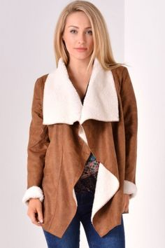 Liana Waterfall Jacket in Brown love this cosy looking coat Boutique Tops, Boutique Dresses, Waterfall Jacket, Maternity Shops, Smart Styles, Dress Shirts For Women, Shirt Shop, Dress Brands, Coats For Women