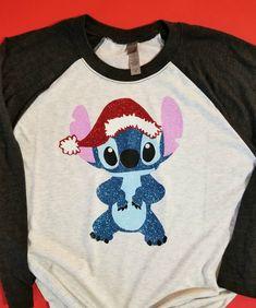 Stitch Christmas Shirt | Glitter Stitch Shirt | Lilo and Stitch Shirt
