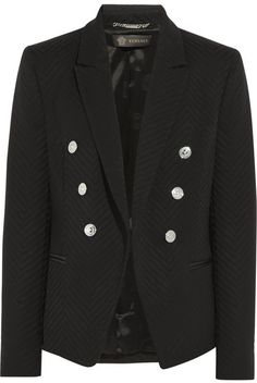Versace Wool-blend jacquard blazer