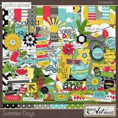 Summer Days Digital Scrapbook collection at Gotta Pixel. www.gottapixel.net/