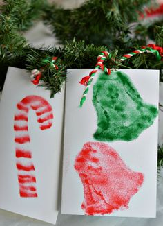 Christmas crafts for kids: Homemade Christmas Cards and Gifts with an Airbrush Art Kit