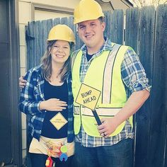 While you may not think of your pregnancy through construction terms, this couple created the perfect punny...