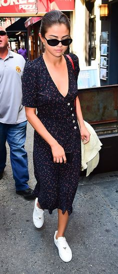 Selena Gomez knows how to rock an autumn dress in the streets of LA.