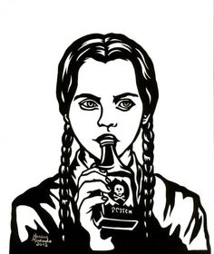 Wednesday Addams Gothic Art created and for sale by The Moonlight Muse at MoreThanHorror.com