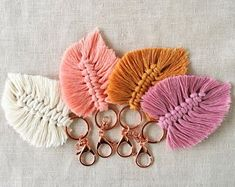 Knotted Honey Style & Design by KnottedHoney Diy Arts And Crafts, Craft Stick Crafts, Yarn Crafts, Macrame Projects, Macrame Patterns, Bijoux Diy, Jewelry Organization, Beaded Bracelets, Etsy
