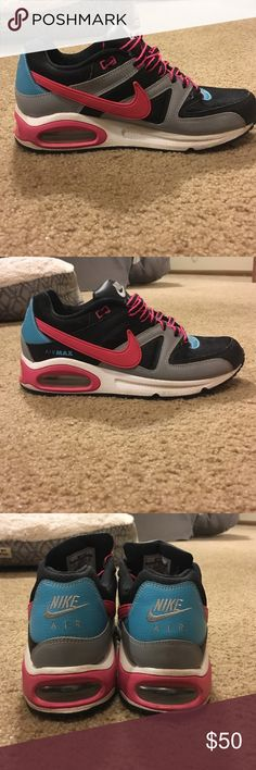 Nike air max Pink, blue, black, grey and white. Worn a couple times and in great condition! Women's size 9. $50 obo Shoes Sneakers