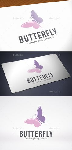 Butterfly Logo Template by BossTwinsMusic - Three color version: color, greyscale and single color.- The logo is 100 resizable.- You can change text and colors very easy u
