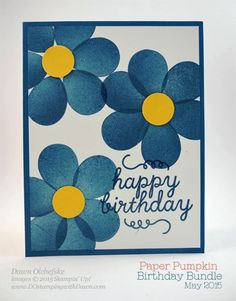 Here's an out-of-the-box idea for you...use the balloon stamp to create flowers!  How fun is that?  I was giddy when I tried it and I really like the cheerful look of the flowers.  Check out the video below so you can give it a try!