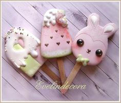 Kawaii popsicle cookies by Evelindecora
