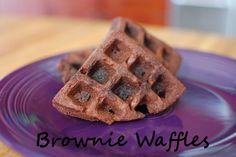 *Random Thoughts of a SUPERMOM!*: Brownie Waffles