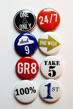 Number Phrases 1 Flair- A Flair For Buttons on Etsy