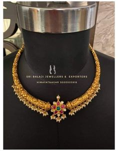 Gold Wedding Jewelry, Gold Jewelry Simple, Light Weight Gold Jewellery, Gold Earrings Designs, Necklace Designs, Gold Jewellery Design, Indian Jewelry, Gold Necklace, Simple Necklace