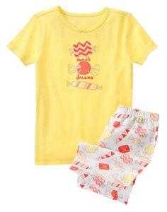 Gymboree Girls Sizes 3 & 6 Sweet Dreams Print Cotton Shortie Pajama Set NWT  #Gymboree #PajamaSet