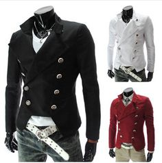 Man Autumn Stylish Suit Blazer 2015 Fashion Men Floral Red Punk Double Breasted Designer Slim Fit Jackets coats Promotion