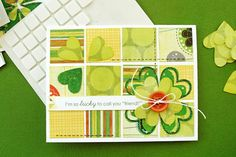 Notch the end of a strip of paper into a banner using a square punch... and lots of other cute ideas on this 1 card.