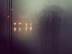 figures in rain