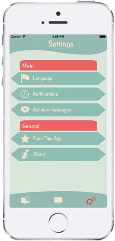 The last screenshot shows the Settings Menu. Change the language of the app and of the messages. Also, you can set up The message of the day. Don't forget to rate our app! If you still want more messages, share the app via Twitter, Facebook or Google+, and you will automatically receive 10 more messages. ___ Holiday Wishes, TAGonSoft
